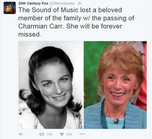 Muere Charmian Carr, la hija mayor en