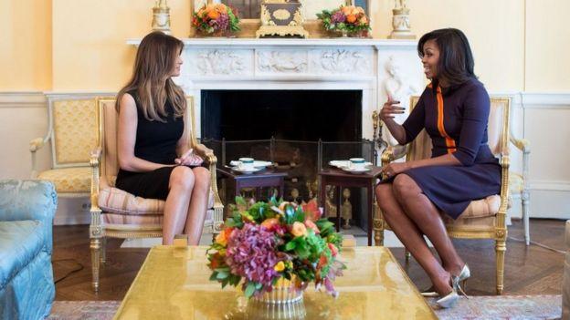 La futura y actual primera dama se reunieron en la Casa Blanca el pasado lunes luego de la victoria de Donald Trump.