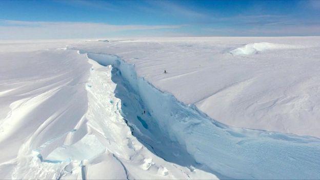 Grieta en el hielo