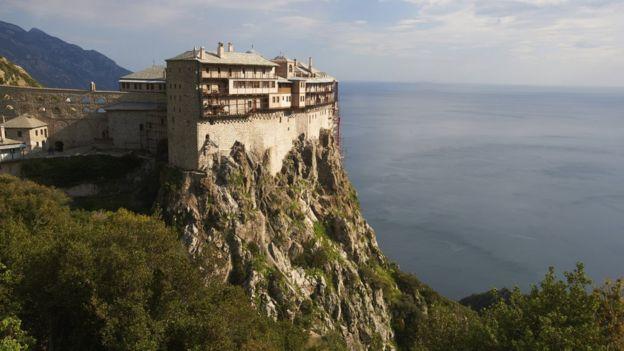 Simonos Petras monastery on Mount Athos