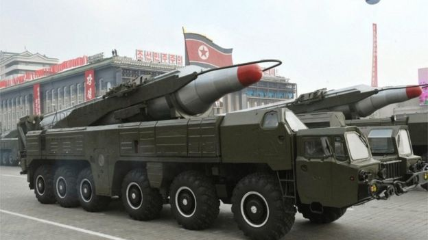 A Musudan missile on display at a military parade in North Korea (2010)