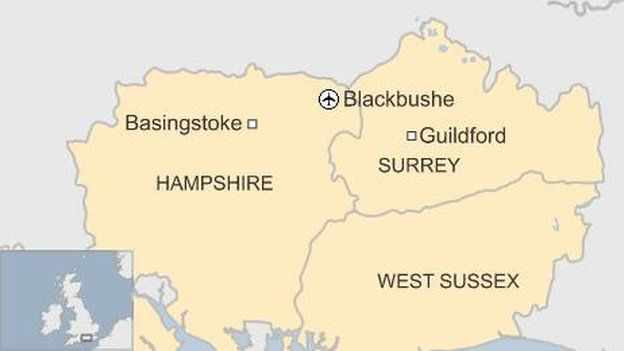 Blackbushe map