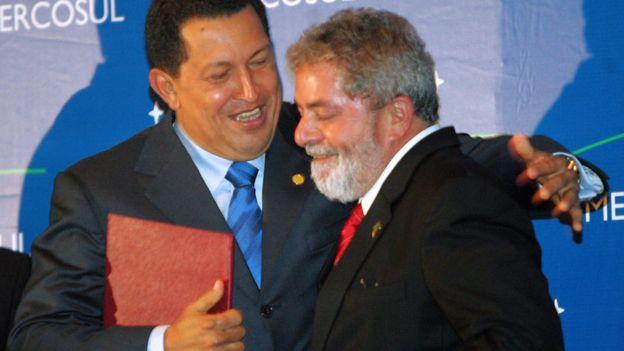 Hugo Chávez y Luiz Inacio Lula da Silva