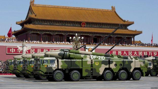 中国于2015年9月3日举行了阅兵式,纪念抗日战争胜利70周年。