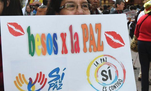 Activistas por la paz en Colombia.