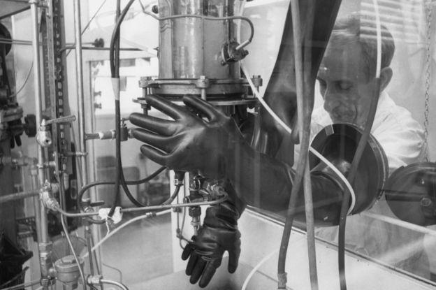 Técnico de Porton Down em 1968