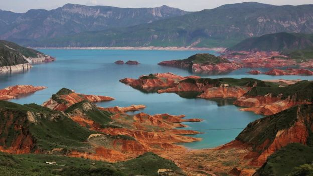 Tajikistan's Nurek reservoir
