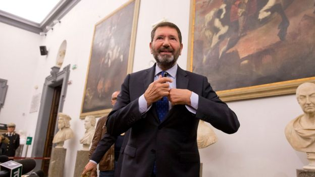 Ignazio Marino at Rome's Campidoglio Capitol Hill, 30 Oct 15