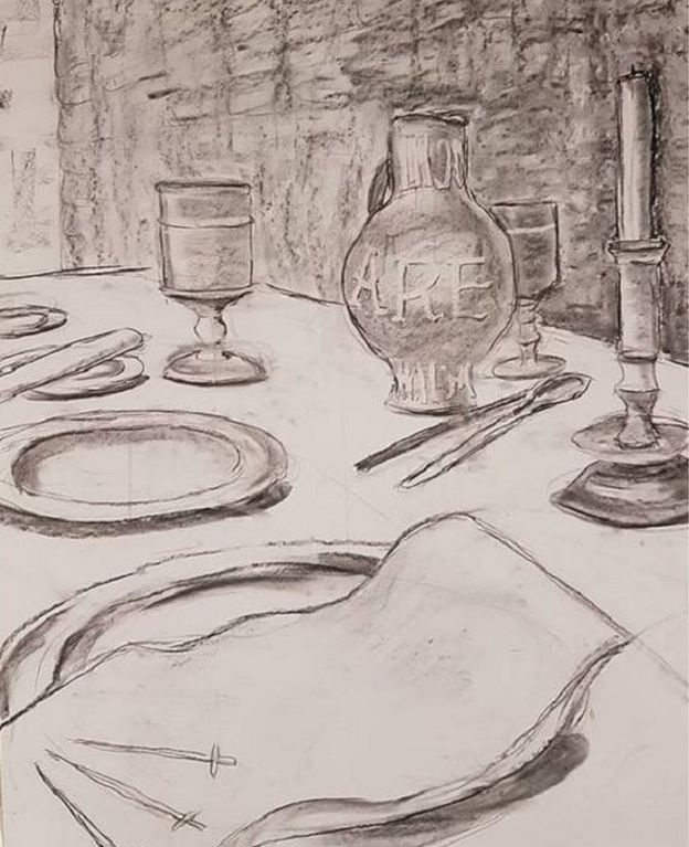 A sketch of a banquet by Berenice Baker