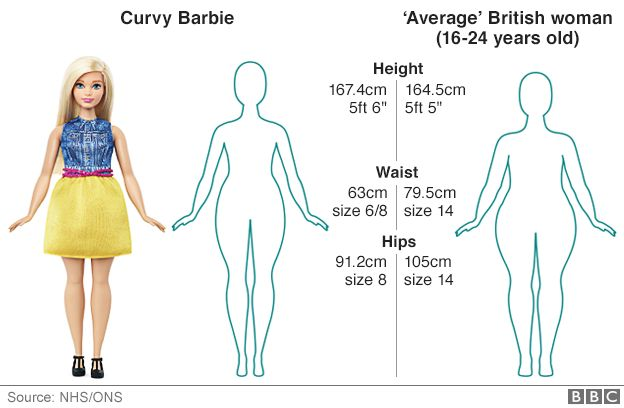 How does &39Curvy Barbie&39 compare with an average woman? - BBC News