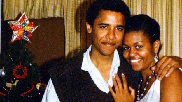 Michelle y Barack Obama juntos en Hawái cuando este todavía era senador.