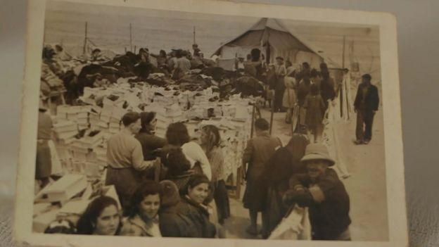 Many Greeks were evacuated to the Moses Wells refugee camp during World War Two