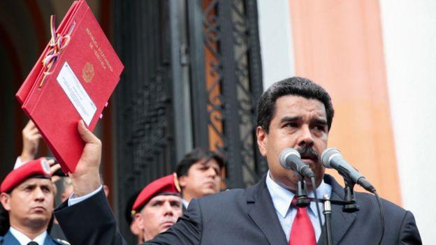 El presidente Maduro