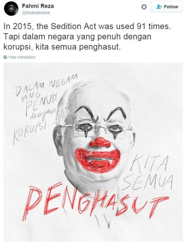 PM as clown