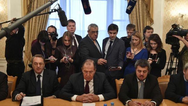 لافروف مع ممثلي المعارضة السياسية السورية