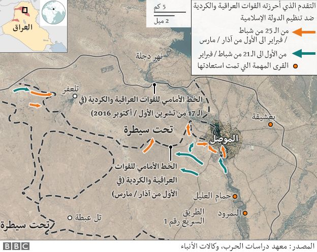 خريطة الموصل