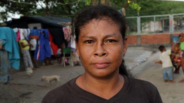 Felisa Amparo Gutiérrez, líder de la comunidad indígena desplazada.