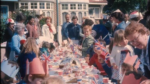 A street party to mark the Queen's Silver Jubilee