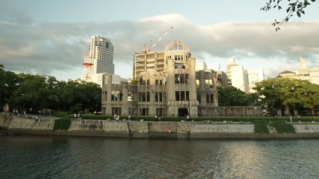 Picture of the A-bomb Dome in Hiroshima