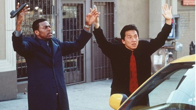 1998 Chris Tucker and Jackie Chan star in the movie Rush Hour in 1998.