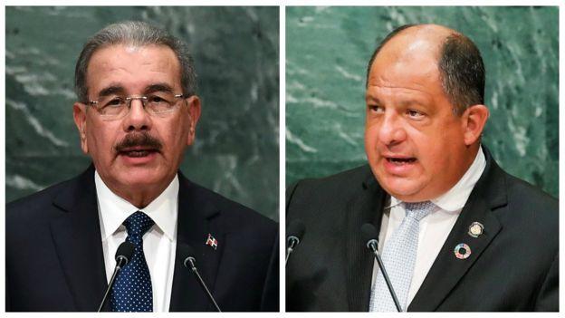 Danilo Medina e Luis Guillermo Solís