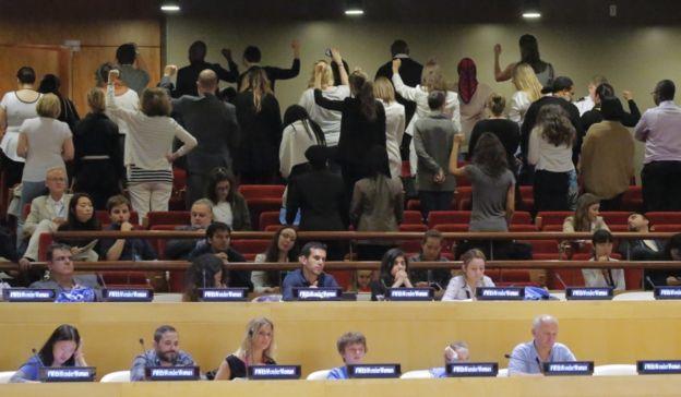 En el seno de la ONU no sentó muy bien la elección de la Mujer Maravilla.