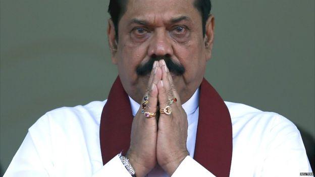 Sri Lanka's former president Mahinda Rajapaksa in Colombo - 28 July 2015