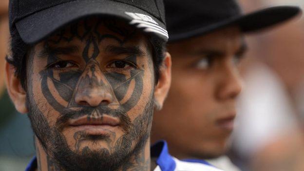 Pandillero salvadoreño