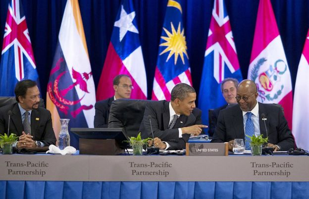 El ahora presidente saliente de EE.UU., Barack Obama, durante la cumbre del APEC en Honolulu, en Hawáii, en 2011.