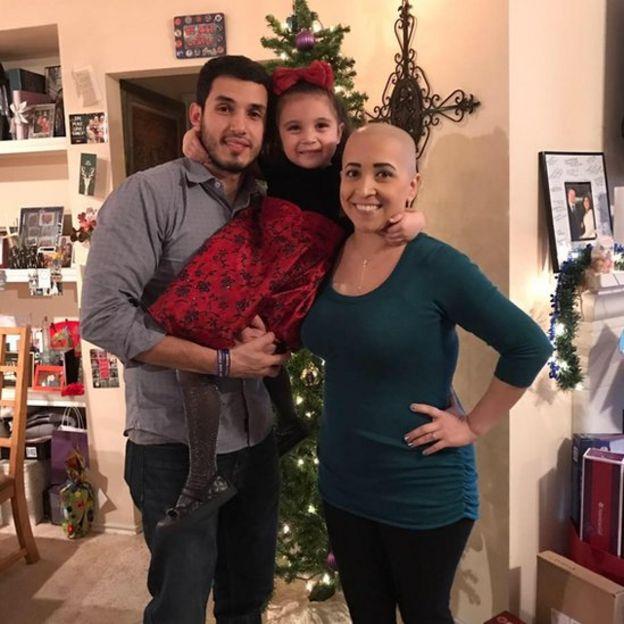 Ana Alecia Ayala y su familia.