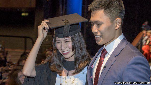 Graduation proposal couple
