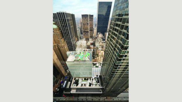 Jardín en el techo en el Museo de Arte Moderno en Nueva York
