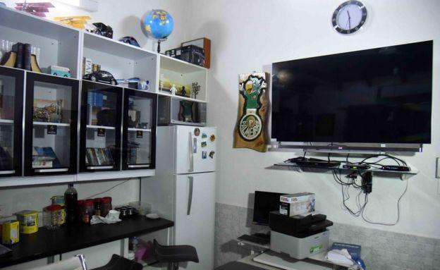 Aspecto de la habitación del narcotraficante Jarvis Chimenes Pavao en la prisión de Tacumbú, Asunción.