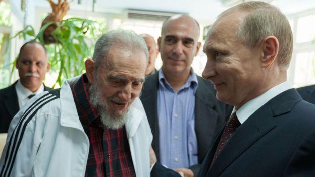 Vladimir Putin y Fidel Castro en La Habana en 2014.