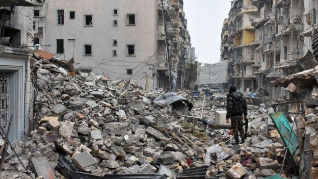 Ruína em Aleppo