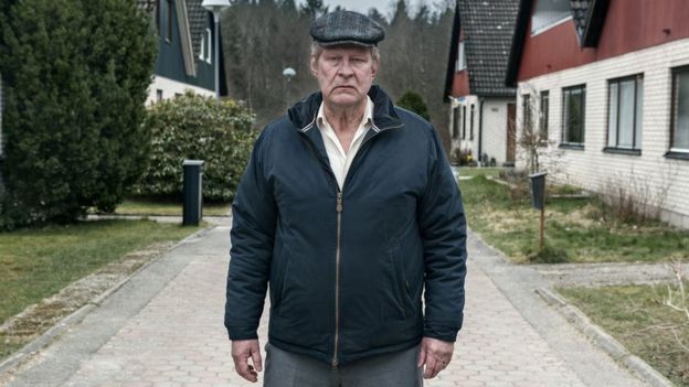 Rolf Lassgard in a scene from A Man Called Ove
