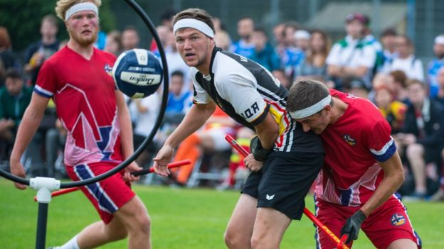 Germany versus Norway at the Quidditch World Cup in July 2016