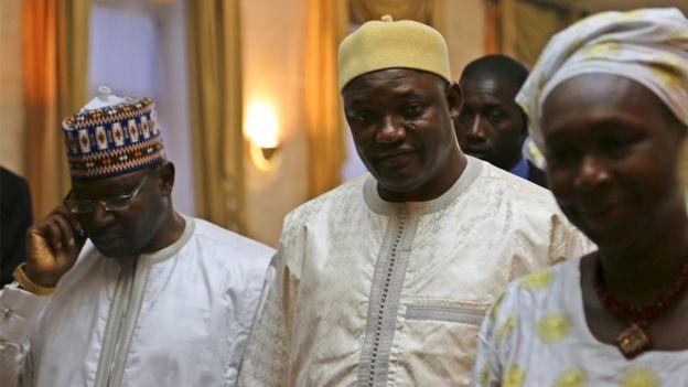 Adama Barrow akiwa Dakar, Senegal Januari 20, 2017