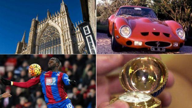 York Minster, Ferrari, Bolasie, Faberge egg