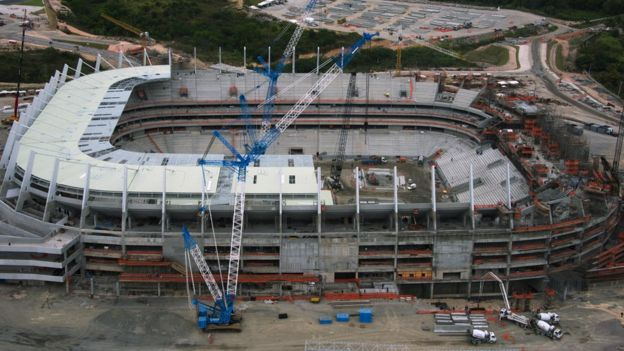 Arena de Pernambuco stadium, in Pernambuco, Recife, under construction in 2012