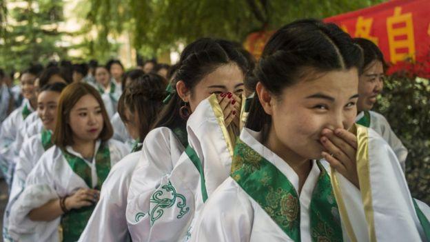 Estudiantes chinas