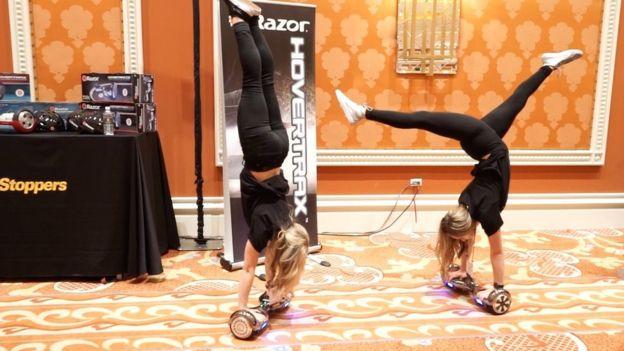 Hoverboard girls