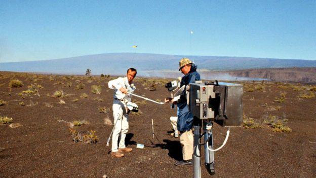 Equipos de la NASA en El Picante, Sonora.