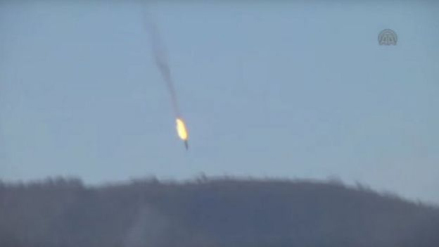 روابط ترکیه و روسیه به خاطر سرنگونی جنگنده روسی در نوامبر ۲۰۱۵ تیره شد