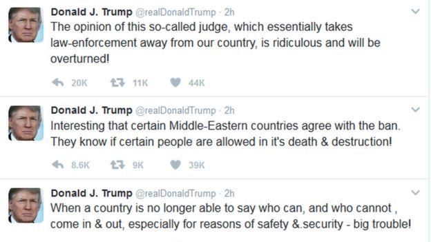 Donald Trump'ın paylaşımları
