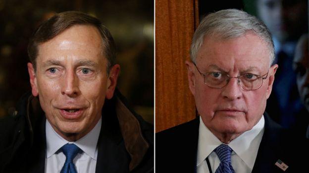 David Petraeus and Keith Kellogg