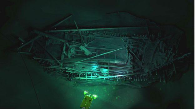 Naufrágio otomano descoberto a 300 metros de profundidade