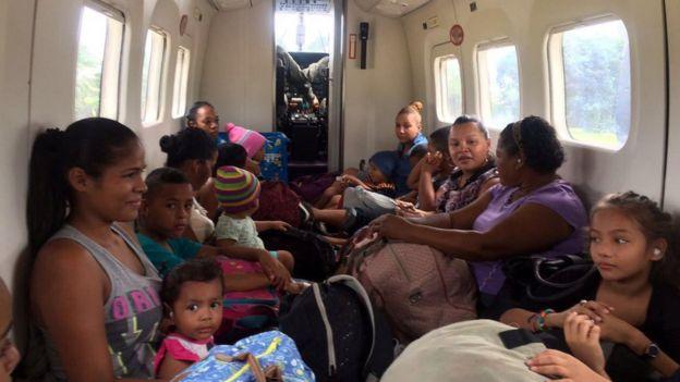 Personas evacuadas en Costa Rica.