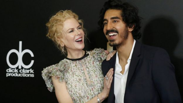Nicole Kidman and Dev Patel at Hollywood Film Awards
