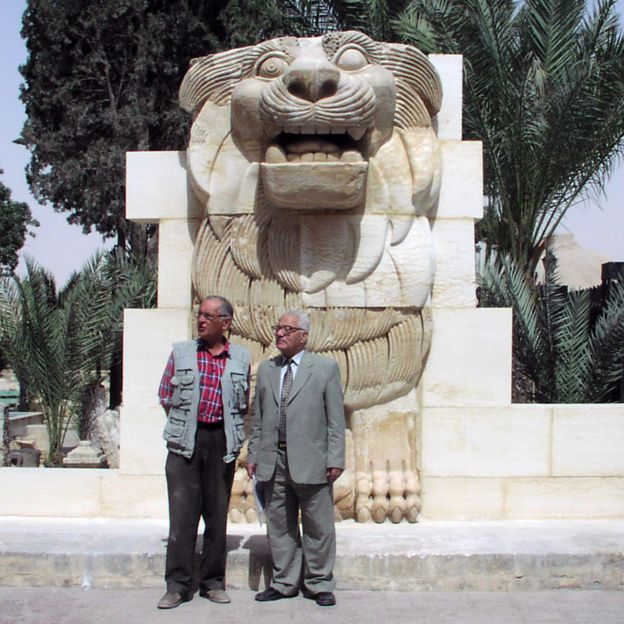 Michal Gawlikowski and Khaled al-Asaad